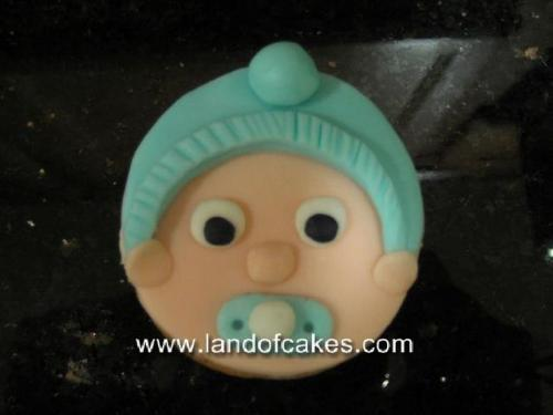 Baby face cupcakes for baby showers