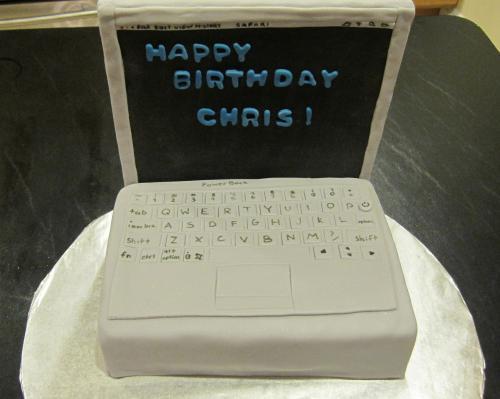Computer shaped cake