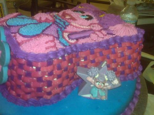 Sesame street Abby Cadabby cake