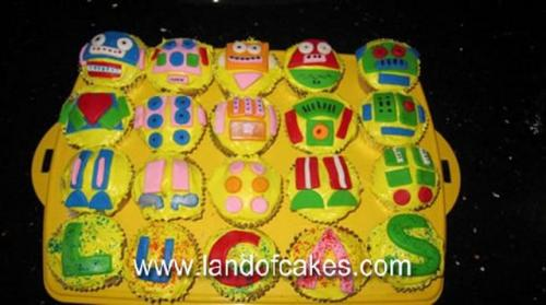Birthday Robot Cupcakes